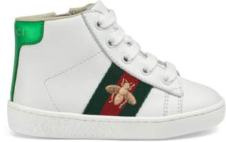 Gucci Toddler Ace leather high-top sneaker