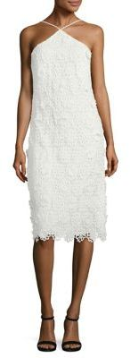 Trina Turk Conga Lace Halter Dress $348 thestylecure.com