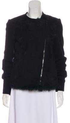L'Agence Suede Knit Jacket