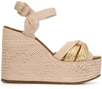 Casadei Riviera wicker wedge sandals