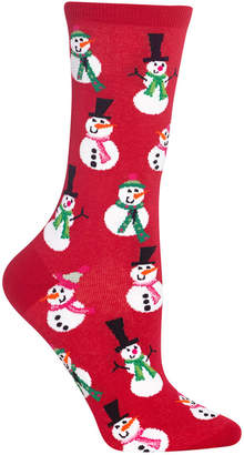 Hot Sox Women's Snowmen Crew Socks
