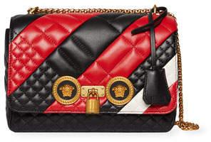 Versace Icon Medium Quilted Patchwork Shoulder Bag