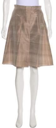 Armani Collezioni Silk Pleated Skirt