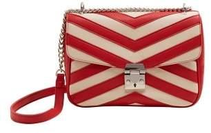 Violeta BY MANGO Striped monochrome bag