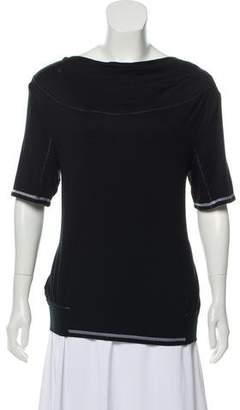 John Galliano Gathered Short Sleeve Top