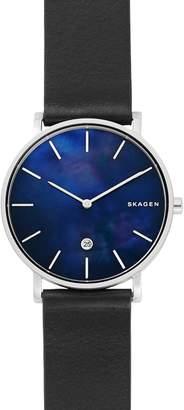 Skagen Hagen Slim Leather Strap Watch, 40mm