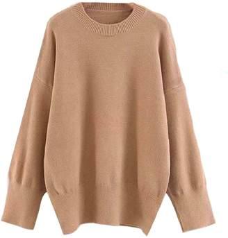 Goodnight Macaroon 'Isla' Oversized Side Slit Crewneck Sweater (5 Colors)