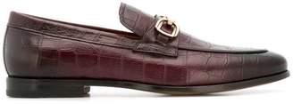 Santoni crocodile-embossed loafers