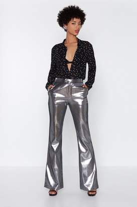 Nasty Gal I'm Steel in Love With You Metallic Pants