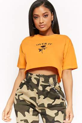 Forever 21 Over It Graphic Cropped Tee