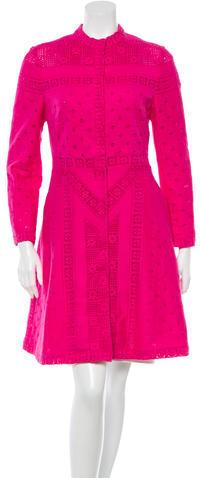 ValentinoValentino Crochet A-Line Coat