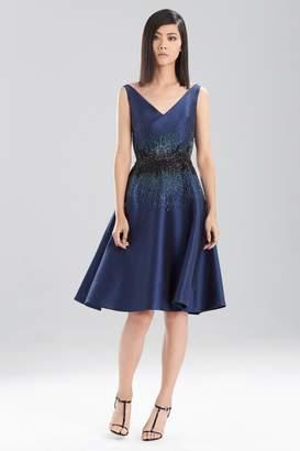 Josie Natori Satin Twill Dress