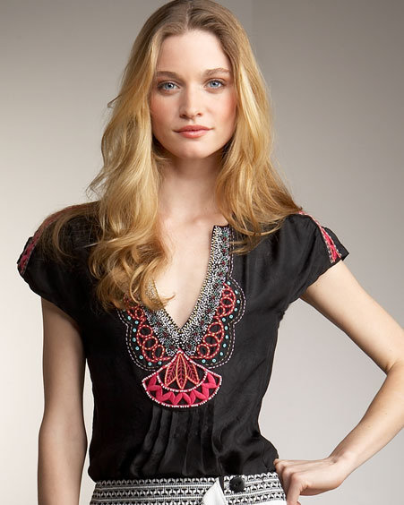 Nanette Lepore Heavenly Embroidered Top