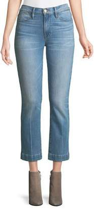 Frame Le High Straight-Leg Ankle Jeans with Blind Stitch Detail