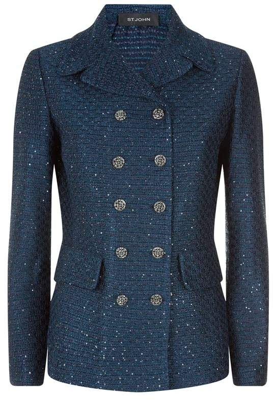 Tweed Double Breasted Jacket