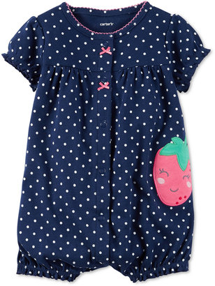 Carter's Dot-Print Strawberry Romper, Baby Girls (0-24 months) $14 thestylecure.com