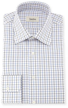 Neiman Marcus Tattersall Check Dress Shirt