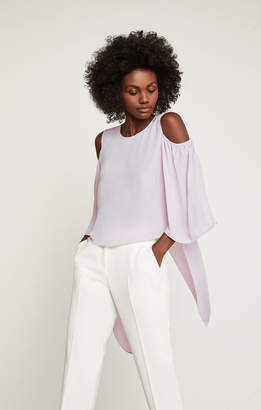 BCBGMAXAZRIA Skipper Cold-Shoulder Top