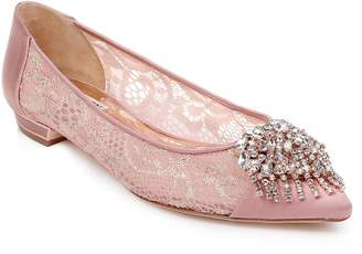 Badgley Mischka Collection Lailah Embellished Skimmer Flat