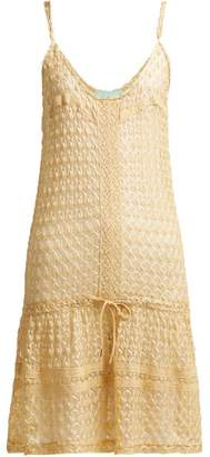 Melissa Odabash Khloe Crochet Knit Dress - Womens - Gold