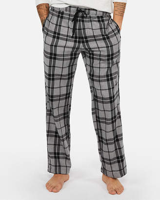 Express Exp Weekend Double Brushed Plaid Flannel Pant