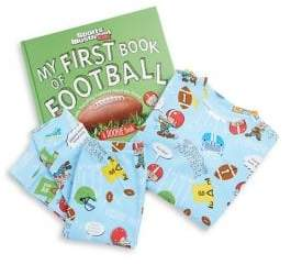 Books To Bed Toddler's& Little Boy's Three-Piece Football Cotton Top, Pants& Book Set