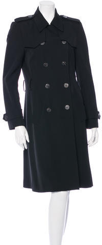 Balenciaga  Balenciaga Double-Breasted Wool Trench Coat