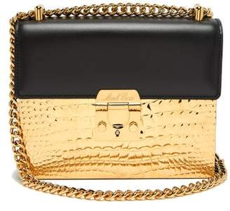 Mark Cross Zelda Leather And Gold Plated Bag - Womens - Black Gold