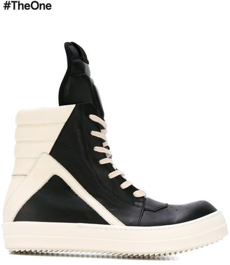 Rick Owens 'Geobasket' hi-top sneakers $849 thestylecure.com