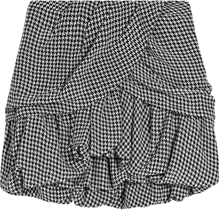 Maje Staletta houndstooth mini skirt