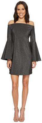 Vince Camuto Off Shoulder Bell Sleeve Metallic Ponte Dress Women's Dress