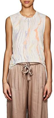 Raquel Allegra Women's Tie-Dyed Linen-Cotton Tank