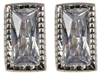 Swarovski ADORNIA Sterling Silver Crystal Rectangle Cut Studs
