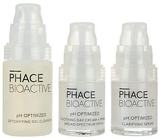 clear PHACE BIOACTIVE pH Optimized 3-piece FaceKit
