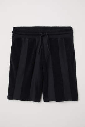 H&M Striped Shorts - Black
