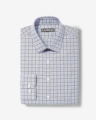 Express Classic Plaid Dress Shirt