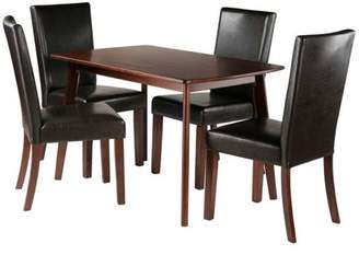 Winsome Wood Shaye 5-Piece Dining Table with Chairs Set, Walnut