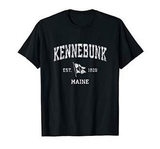 Kennebunk ME Vintage Nautical Boat Anchor Flag Sports T-Shirt