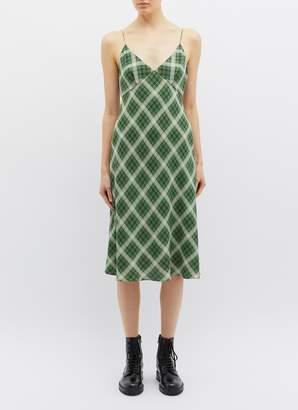36d8a7fd6f at Lane Crawford · Marc Jacobs Check plaid silk flannel midi dress