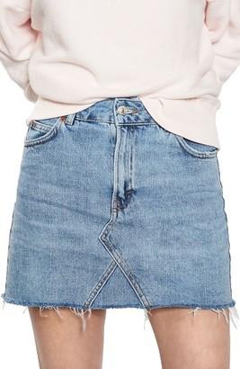 Women's Topshop Denim Miniskirt $55 thestylecure.com