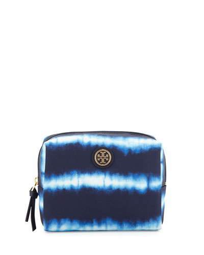 Tory Burch Tory Burch Brigitte Tie-Dye Nylon Cosmetic Bag, Ziggy Print