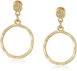 Canvas Womens Small Tone Hammered Post Hoop Earrings