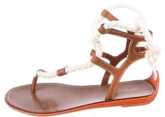Sergio Rossi Thong Rope Sandals