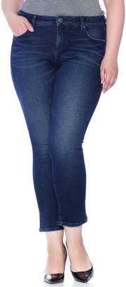 SLINK Jeans High Waist Straight Leg Crop Jeans