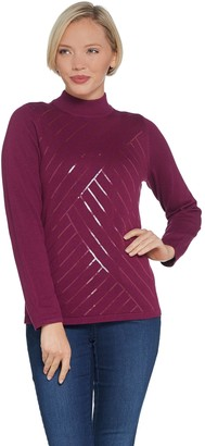 Joan Rivers Classics Collection Joan Rivers Mock Turtleneck with Sequins