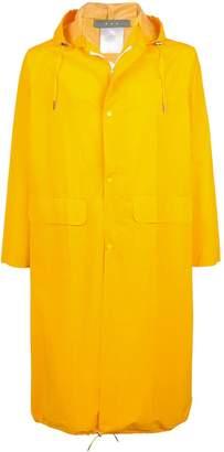 Geo mid-length raincoat