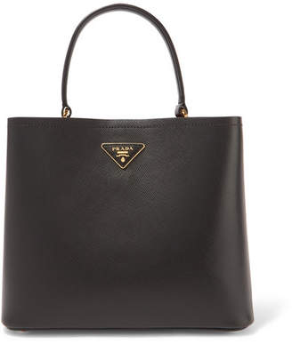 Prada Textured-leather Tote - Black