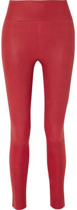 Sprwmn Leather Leggings - Red