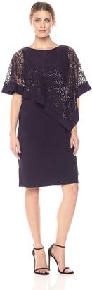 R & M Richards R&M Richards Women's Short Laced Poncho Dress Missy Dress,