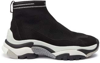 Ash 67947 'Addict Stretch' chunky outsole sock knit high top sneakers